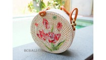circle handbags deco short handle new style
