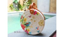 new fashion circle sling bags handmade decoration bali