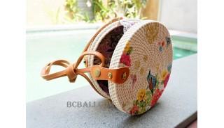 new fashion circle sling bags handmade decoration bali