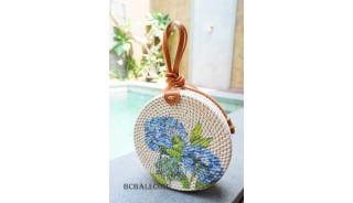 ladies circle sling bags handmade decoration new style