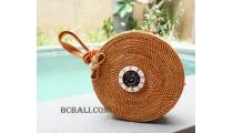 bali rattan sling bags rattan with seashells