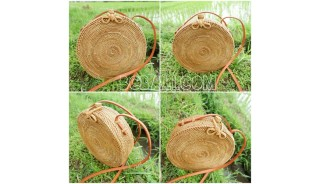 Best Quality>>Fee Shipping 21 Pieces of Rattan Circle Bags