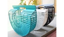 bamboo handbags fan style 3color