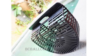 new bamboo handbags fan black  color