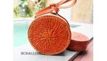 circle full leather sling bags large size handmade