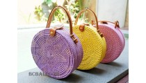 circle handbags 3color fashion handmade bali