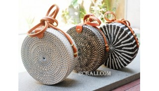 circle sling handbags 3color fashion handmade