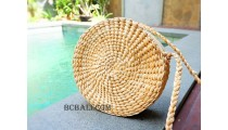 circle seagrass bags natural water hyacinth