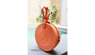 circle sling bags fashion handmade rattan