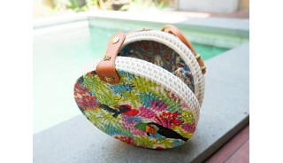new fashion sling bags rattan with decorations