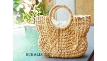 water hyacinth handbags seagrass natural design