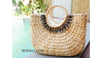 handbags from water hyacinth natural color large