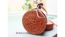 large size circle full leather sling bags  bali