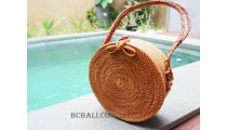 large circle handbags leather bali design