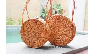 rattan handbag circle star style sets of 2