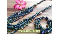 Amaze Stone Charms Multi Strand Jewelry Sets