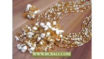 Beads Pendants Stone Casandra Necklace