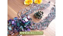 Beadings Shells Pendants Necklace Sets
