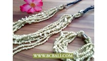 Charm Multi Strands Long Seeds Necklace Bead