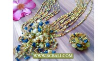 Fashion Necklace Mix Color Pendant Sets