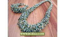 Indonesian Beads Necklace Set Bracelet