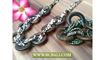 Indonesia Ethnic Wooden Bracelet Sets Designs