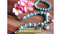 Seeds Beads Stone Turquoise in Sets