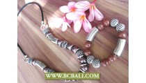 Single Bead Stone Acrilic in Set Two