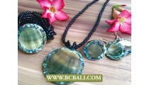 Abalone Shells Pendant Bead Necklaces