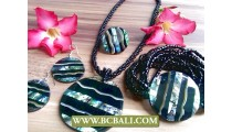 Black Abalone Shells Pendant Necklaces