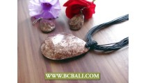 Seashells Brown Coloring Pendants