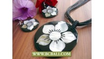 Flowers Motif Pendants Shells