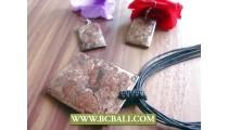 String Leather Pendant Shells