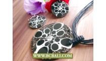 Resin Seashells Pendants Rope Necklaces