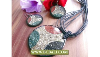 Shells Crack Genuine Leather Rope Necklace