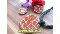String Leather Necklace Pendant Resin