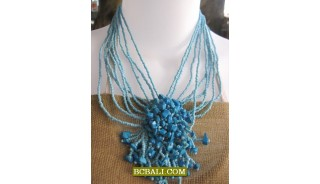 accessories necklaces chokers beaded stone pendants