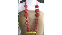 handmade fashion necklaces nuged long strand