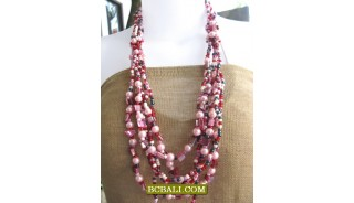 bali handmade necklaces beads multi strand long