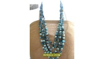 balinese beads necklaces multi strand long