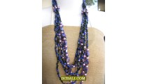 handmade sequins long seeds necklaces multi