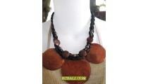 brown shells necklaces pendant triangle designs