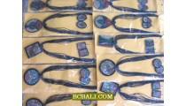 ethnic necklaces pendants resin sand motif beaded seeds