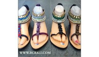 Bali Wedges Bohemia Sandals Beaded Slipper