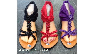 Bohemian Leather Wedges Sandals Bali