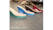 Fashion Wedges Snake Leather Bali