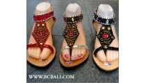 Bcbali Fringed Wedges Sandals Beaded
