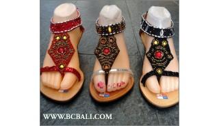 Bcbali Fringed Wedges Sandals Beaded