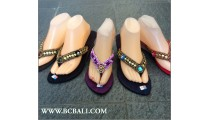 Bali Slippers Wedges Beads