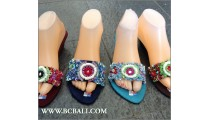 Bali Wedges Full Beads Sandals